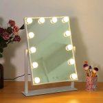 Pissente Espejo Hollywood de Maquillaje Iluminado con Control Táctil luces LED