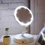 espejo hollywood portatil luz led con aumento