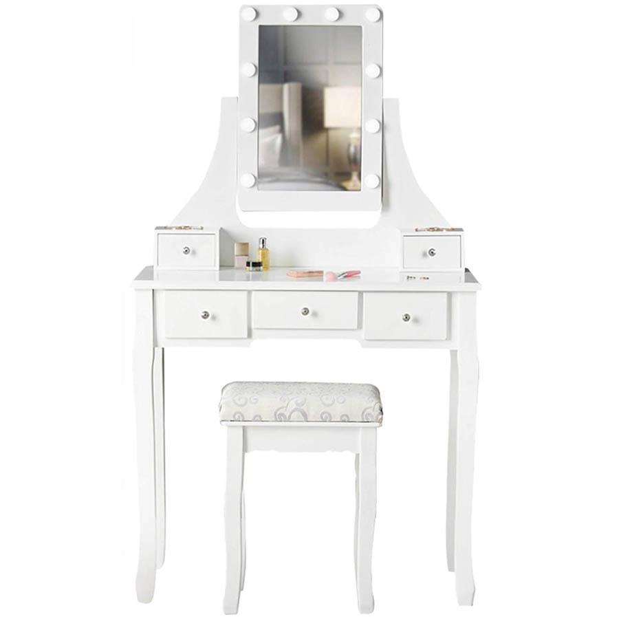 ᐈ Tocadores y espejos HOLLYWOOD blancos 🤩 Tienda Online